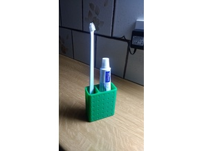 Tooth brush and paste holder