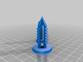 My Customized Parametric push pin-10mm-cones
