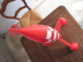 fusée rouge et blanche