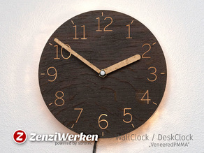"Clock Face ""VeneeredPMMA"" cnc"
