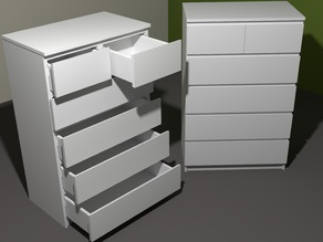 """Model of the """"IKEA MALM 6-drawer chest"""""""