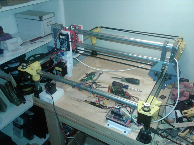 CoreXY Laser Engraver by dkj4linux - Thingiverse