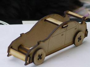 Laser Cut Sports Car