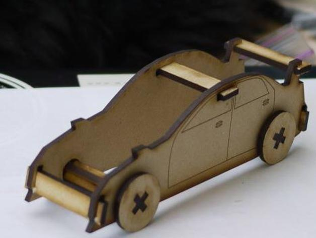 Laser Cut Sports Car By Dustinandrews Thingiverse