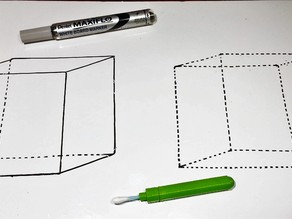 OMT² - Hex Whiteboard Precision Eraser (or a tiny brush)