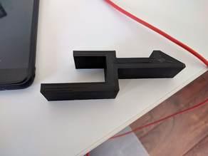 Headphones desk clip for IKEA galant/Skarsta