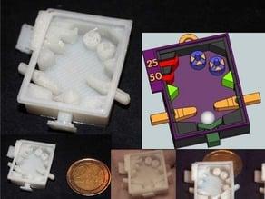 DailyEarring#63: Micro Pinball Machine (2x3cm)