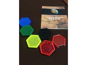 Terraforming Mars Player Token Hex Bowls
