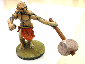 Orc with Club Miniature
