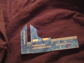 Business card caliper