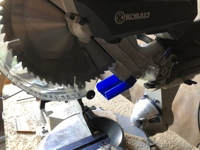 Kobalt Miter saw Dust Channel