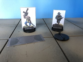 This Is Not A Test - Demo Paper Miniatures/Standees Bases