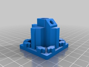 4040 End Cap for a caster / roller - 3/8 -16 threads