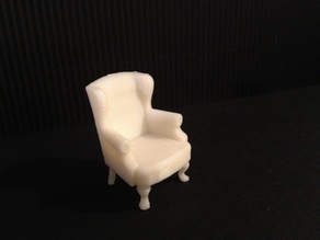 Miniature Queen Anne Wingback Chair