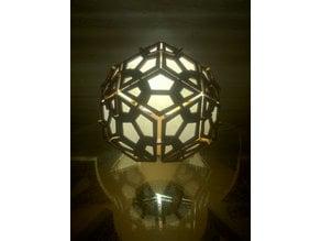 Rhombic Triacontahedron Lamp