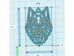 Geometric Wolf - Loup géometrique