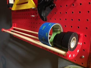 Pegboard Tape Holder