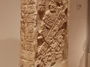 Stela from Late Classic Maya, at the Art Institute of Chicago
