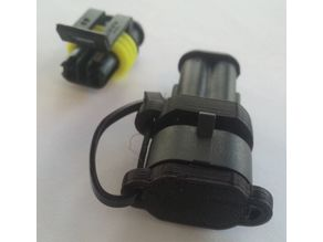 Cap for AMP-Superseal connector 2p