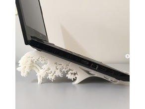"P1 Notebook Stand inspired by ""The Great Wave of Nakagawa"""