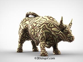 2 Colors Wall Street Bull by Dizingof