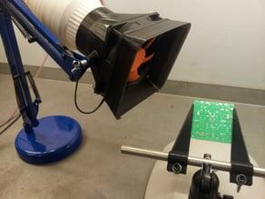 Fume Extractor - 120mm Fan Shroud & Duct Adaptor