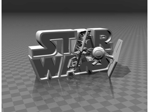 ⭐⭐⭐⭐⭐ Star Wars - 3D logo