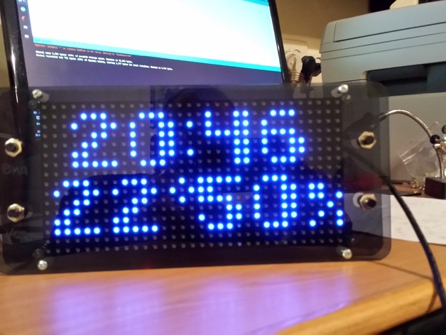 Arduino based clock using rgb led matrix by