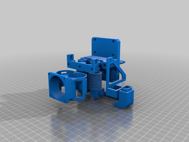 full_set1_preview_featured dual extruder mount with auto bed leveling and 2 fans for prusa i3  at creativeand.co