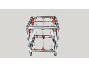 AL3D 300x300x350 linear guide CoreXY - 4040  frame
