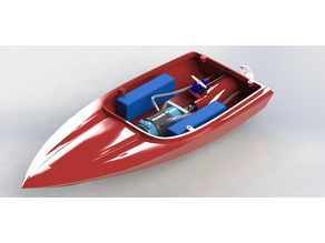 3D printed Jetsprint jetboat