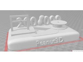 Trophée des 200 K cacahuètes Peanut3D