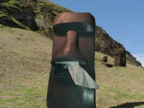 Tissue Box Moai