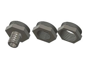 """Adapter M24x1 to 12mm hose or G3/8"""" or G1/2"""" (BSP Threads)"""