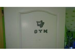 Door sign gym