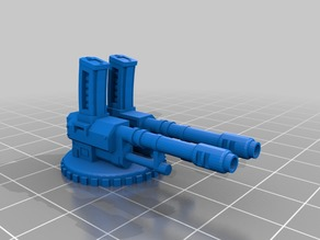 Twin-linked autocannon for Genestealer Cults Galyat Truck