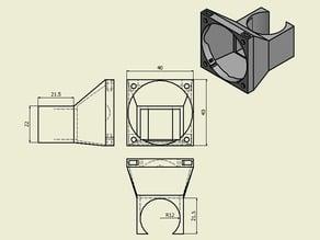 Fan mount 40x40