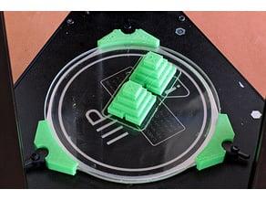 clip for Monoprice Delta Mini to hold 120mm borosilicate glass bed