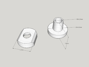 T-nut and washer for M3*15