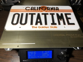Back To The Future 1985 License Plate [modified]
