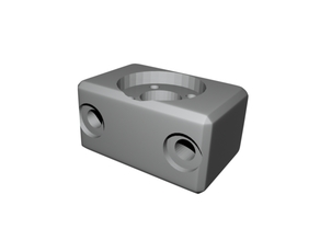 Low profile nut mount 2020 extrusion