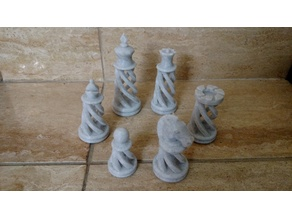 Remixed Knight and Pawn for Spiral Chess set