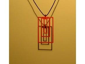 Triple Rectangle Pendant