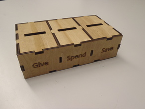 Give Spend Save Money Box