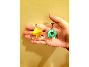 Deca and Donu keychain