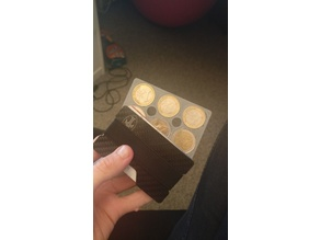 CREDIT CARD COIN HOLDER 3x2€ 3x1€