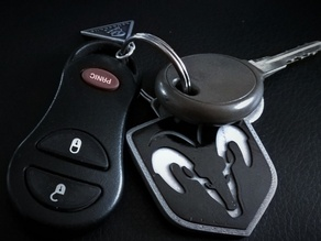 Dodge Ram keychain tricolor