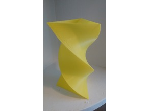 Triangular Twisted Vase
