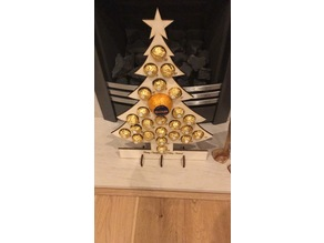 Christmas Tree Advent Calendar - Laser Cut Ferrero Rocher Chocolate Orange