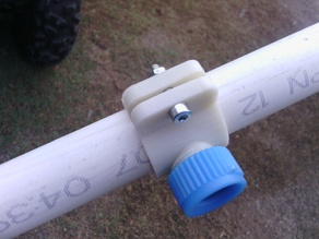 Spray nozzle saddle for 25mm pvc pipe.